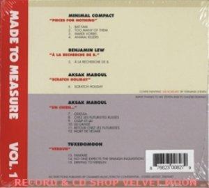 V.A. MADE TO MEASURE VOL.1【CD】新品 ヨーロッパ盤 紙ジャケ仕様 CRAMMED DISCS