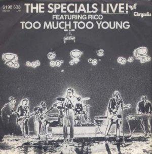 画像1: THE SPECIALS FEATURING RICO/LIVE! TOO MUCH TOO YOUNG  【7inch】 GERMANY CHRYSALIS